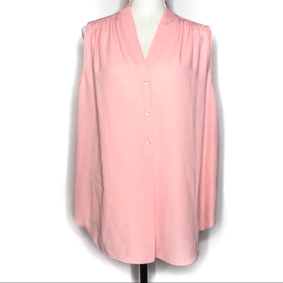 ANTONIO MELANI Tops - Antonio Melani Light Pink Sleeveless Blouse